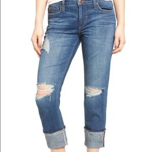 Joe's Jeans Cropped Ex Lover Distressed Sz 29